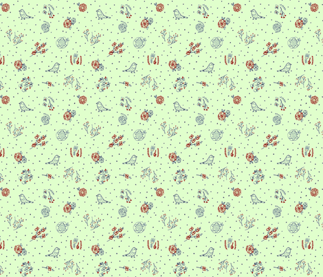 planting seeds- mint fabric by tinyhappy on Spoonflower - custom fabric
