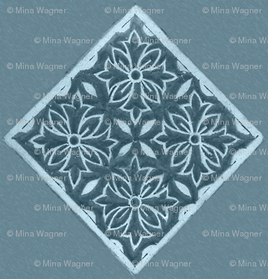 Japanese-fabric-stamp-diamond--INDIGO-TURQUOISE