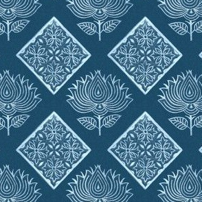 Japanese-fabric-stamps-flower-diamond-INDIGO - adj 2012