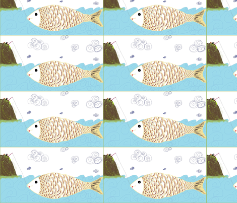 Something_fishy fabric by girl_from_the_garden_city on Spoonflower - custom fabric