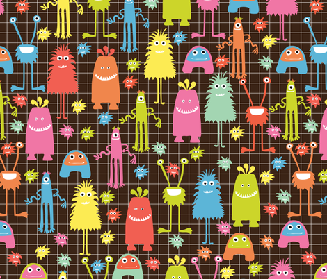 monster mash fabric by mondaland on Spoonflower - custom fabric