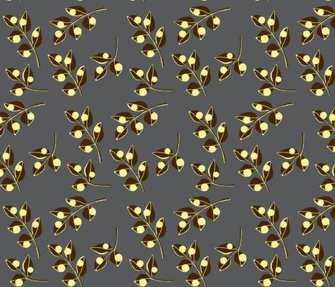 Urban steel / leaf fabric by paragonstudios on Spoonflower - custom fabric