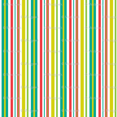 Pop Bot Stripe White