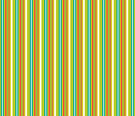 Pop Bot Stripe Yellow fabric by modgeek on Spoonflower - custom fabric