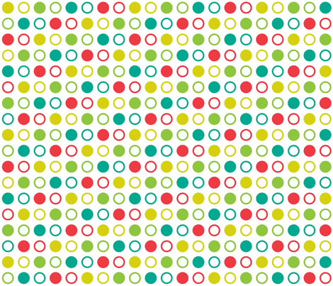 Pop Bot Dot White fabric by modgeek on Spoonflower - custom fabric