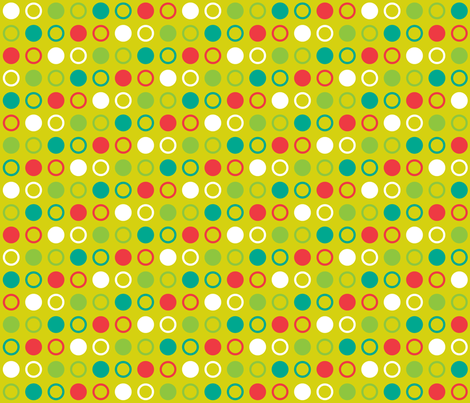 Pop Bot Dot Yellow fabric by modgeek on Spoonflower - custom fabric