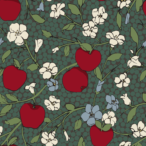 Poison Apple (Large) fabric by shirayukin on Spoonflower - custom fabric