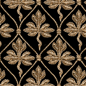 Elizabeth I. Phoenix Portrait Fabric- Black/Gold - No Pearls