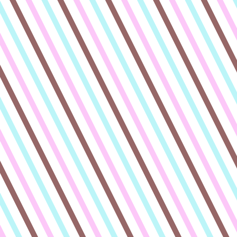 Popbi! - Brightbluesky - Diagonal Striped - © PinkSodaPop 4ComputerHeaven.com  fabric by pinksodapop on Spoonflower - custom fabric