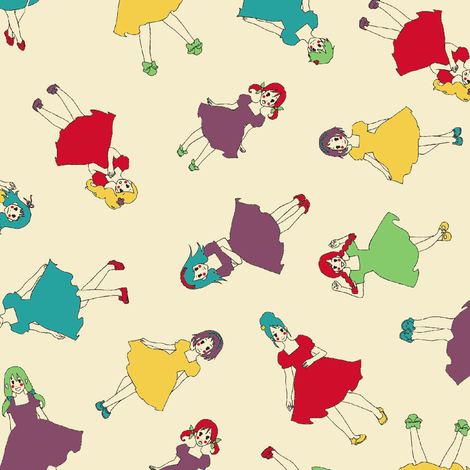 Vintage Missy fabric by shirayukin on Spoonflower - custom fabric