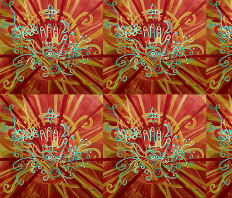 Healing Hand fabric by heatherpeterman on Spoonflower - custom fabric