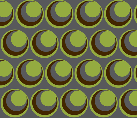 Urban green /  circles fabric by paragonstudios on Spoonflower - custom fabric