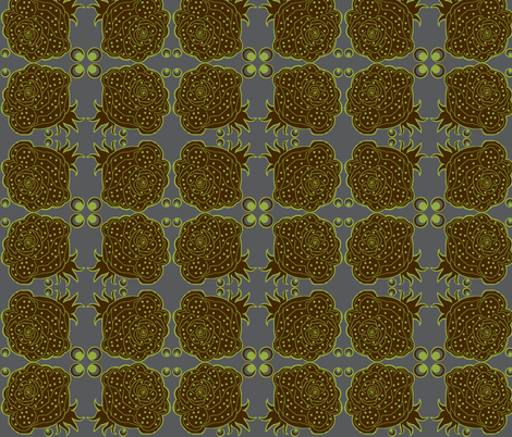 Urban green /  rose fabric by paragonstudios on Spoonflower - custom fabric