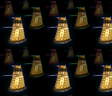 Dalek Invasion! fabric by dalex on Spoonflower - custom fabric