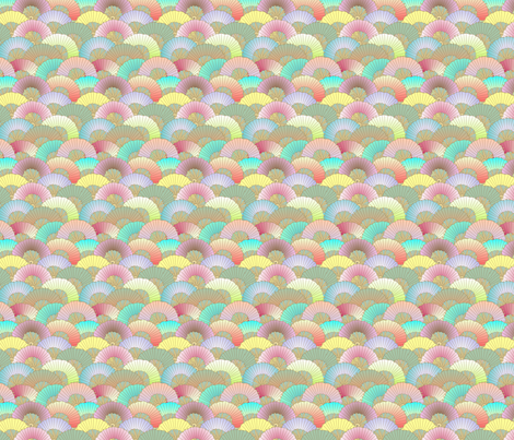 © 2011 fans fabric by glimmericks on Spoonflower - custom fabric