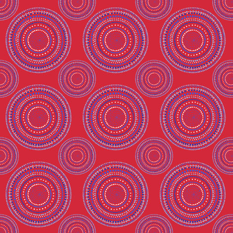 Dancing dervish circles on red fabric by su_g on Spoonflower - custom fabric