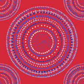 Dancing dervish circles on red