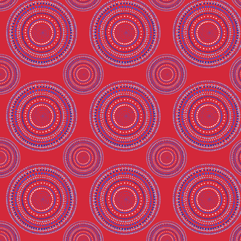 Dancing dervish circles on red by Su_G fabric by su_g on Spoonflower - custom fabric