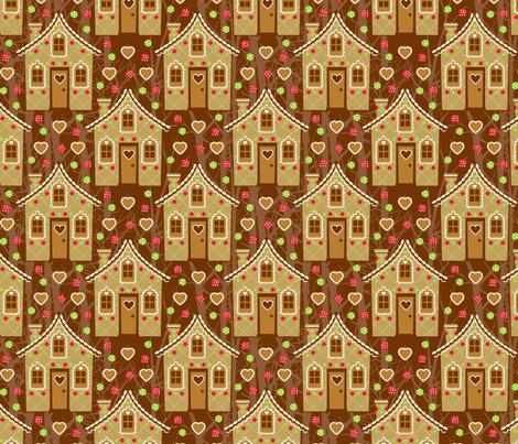 Hansel and Gretel house fabric by cjldesigns on Spoonflower - custom fabric