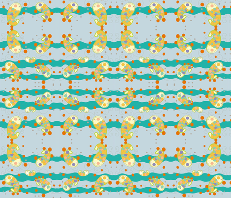 little fish blu fabric by claudiavv on Spoonflower - custom fabric