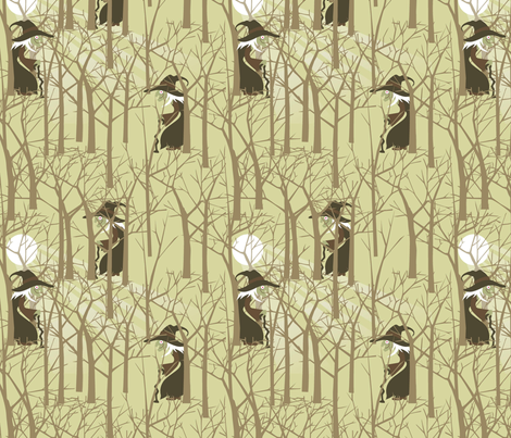 Hansel and Gretel witch fabric by cjldesigns on Spoonflower - custom fabric