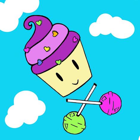 fluffcake fabric by megzy_ on Spoonflower - custom fabric