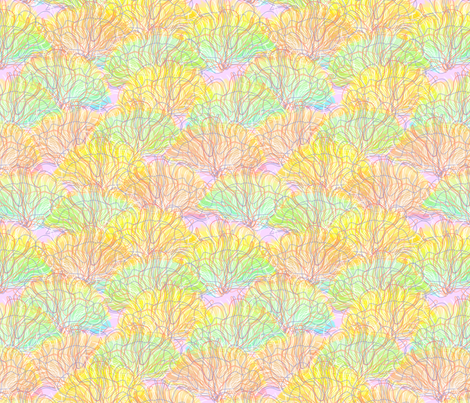 © 2011 seafans fabric by glimmericks on Spoonflower - custom fabric