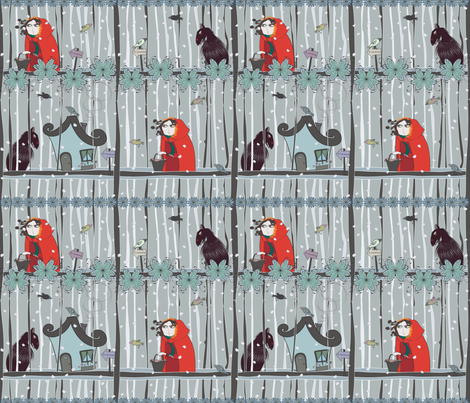 Little Red Riding Hood fabric by pinky_nika on Spoonflower - custom fabric