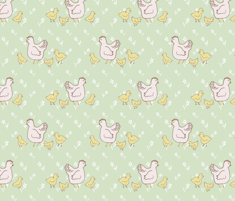 Sweet Little Hen fabric by cilla on Spoonflower - custom fabric