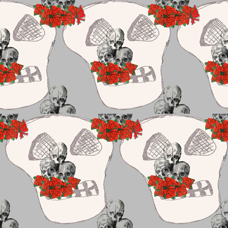 flowers for the dead fabric by nalo_hopkinson on Spoonflower - custom fabric