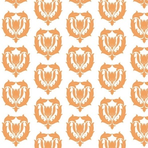 Tulip Damask in Coral