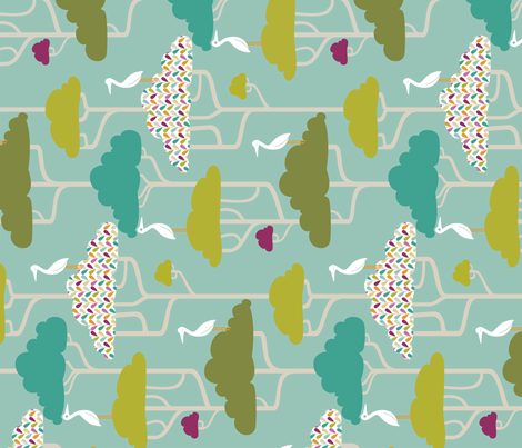 If By Air - Tree Tops, Bright fabric by ttoz on Spoonflower - custom fabric