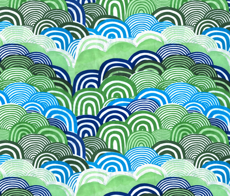Beep hills fabric by leonielovesyou on Spoonflower - custom fabric