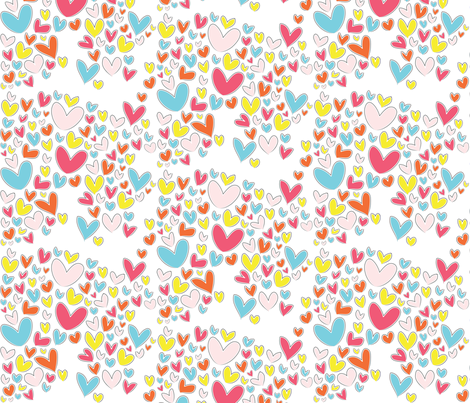 Love you! fabric by majobv on Spoonflower - custom fabric