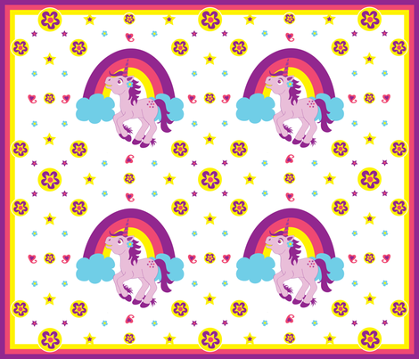 Purple Unicorn (Medium) fabric by jenniferfranklin on Spoonflower - custom fabric