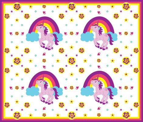 Purple Unicorn (Medium) fabric by jenniferfranklin on Spoonflower - custom fabric