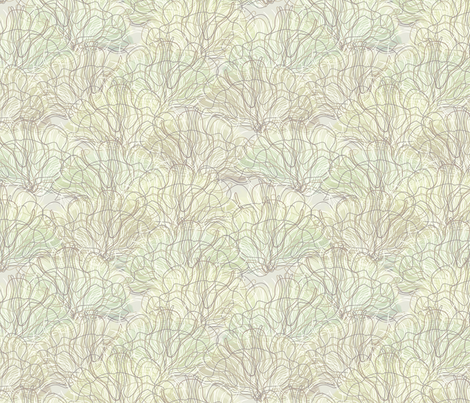© 2011 seafans - sagebrush fabric by glimmericks on Spoonflower - custom fabric
