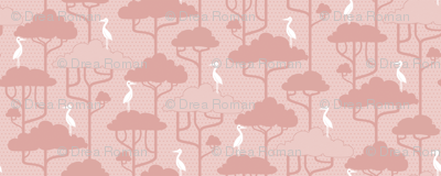 If By Air - Tree Tops, Dk Pink