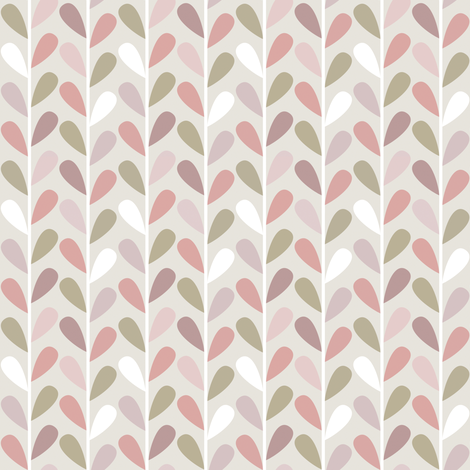 If By Air - Leaves, Pink fabric by ttoz on Spoonflower - custom fabric