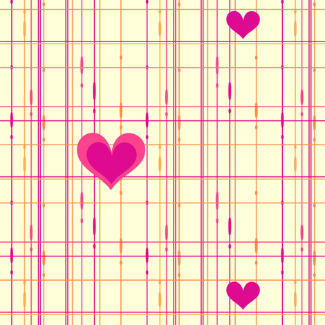 Popbi! - Sugarbaby - Criss Cross Hearts Multi - © PinkSodaPop 4ComputerHeaven.com  fabric by pinksodapop on Spoonflower - custom fabric