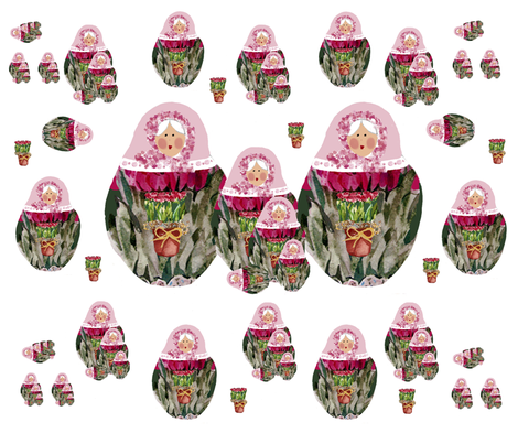 Babushka, A Russian Folk Tale fabric by karenharveycox on Spoonflower - custom fabric
