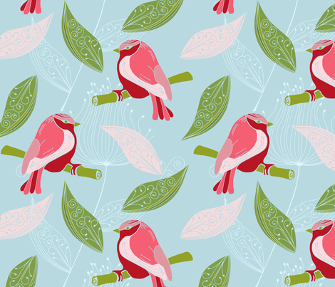 TheSingingSpringingLarkR fabric by loolu on Spoonflower - custom fabric