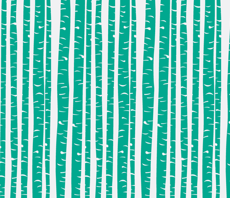 Birch in grass fabric by lana_kole on Spoonflower - custom fabric