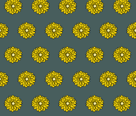 Large Daisy fabric by pond_ripple on Spoonflower - custom fabric