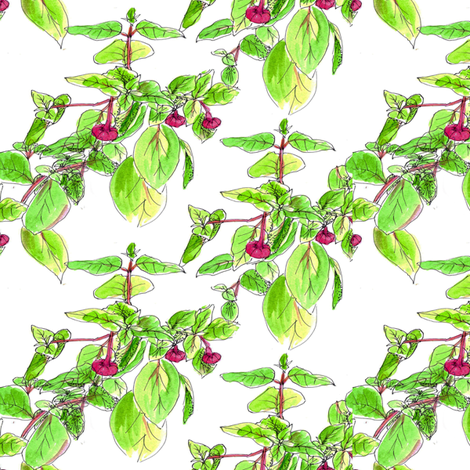 Fuchsia Blooms fabric by countrygarden on Spoonflower - custom fabric