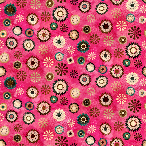 Flowers Pink fabric by kezia on Spoonflower - custom fabric