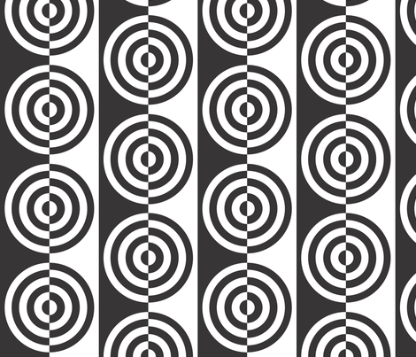 Bullseye confusion fabric by majobv on Spoonflower - custom fabric
