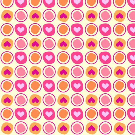 Popbi! - Sugarbaby - LARGE Heart Dots & Circlets - © PinkSodaPop 4ComputerHeaven.com fabric by pinksodapop on Spoonflower - custom fabric