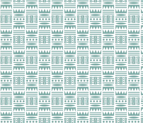 Tribal Edge - sage  fabric by andibird on Spoonflower - custom fabric