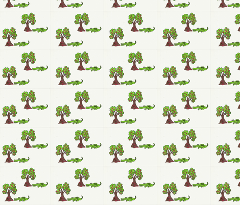 Allison's Alligator fabric by aunt_lucy on Spoonflower - custom fabric